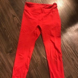 Outdoor voices 3/4 tech sweat red
